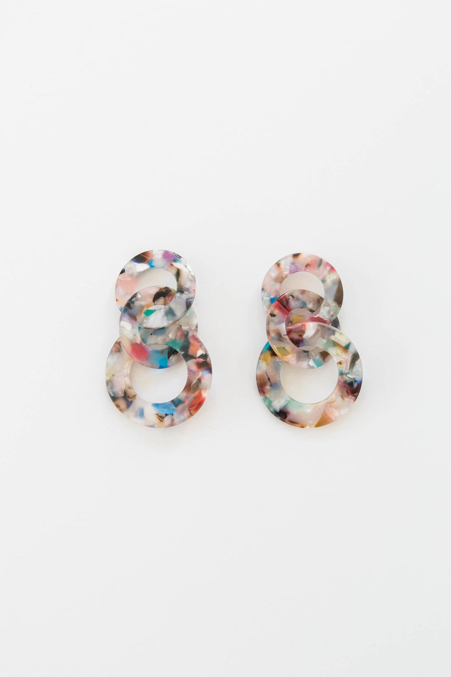 Triple Loop Earrings | Seashell Confetti