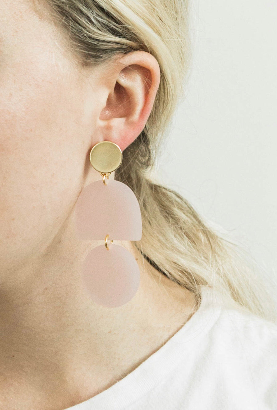 Matte Tab + Circle Earrings | Ballerina