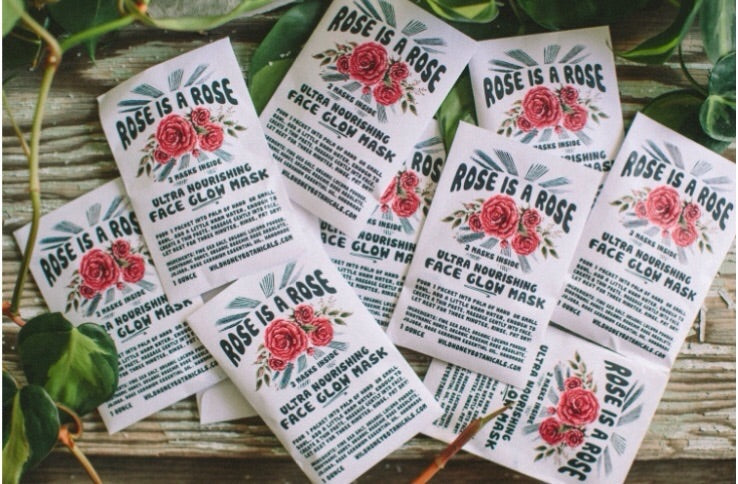 Face Glow Mask | Rose is a Rose