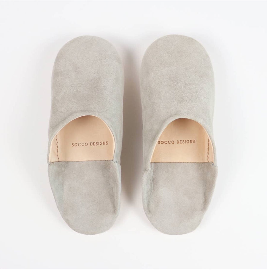 Women Moroccan Babouche Slippers | Grey