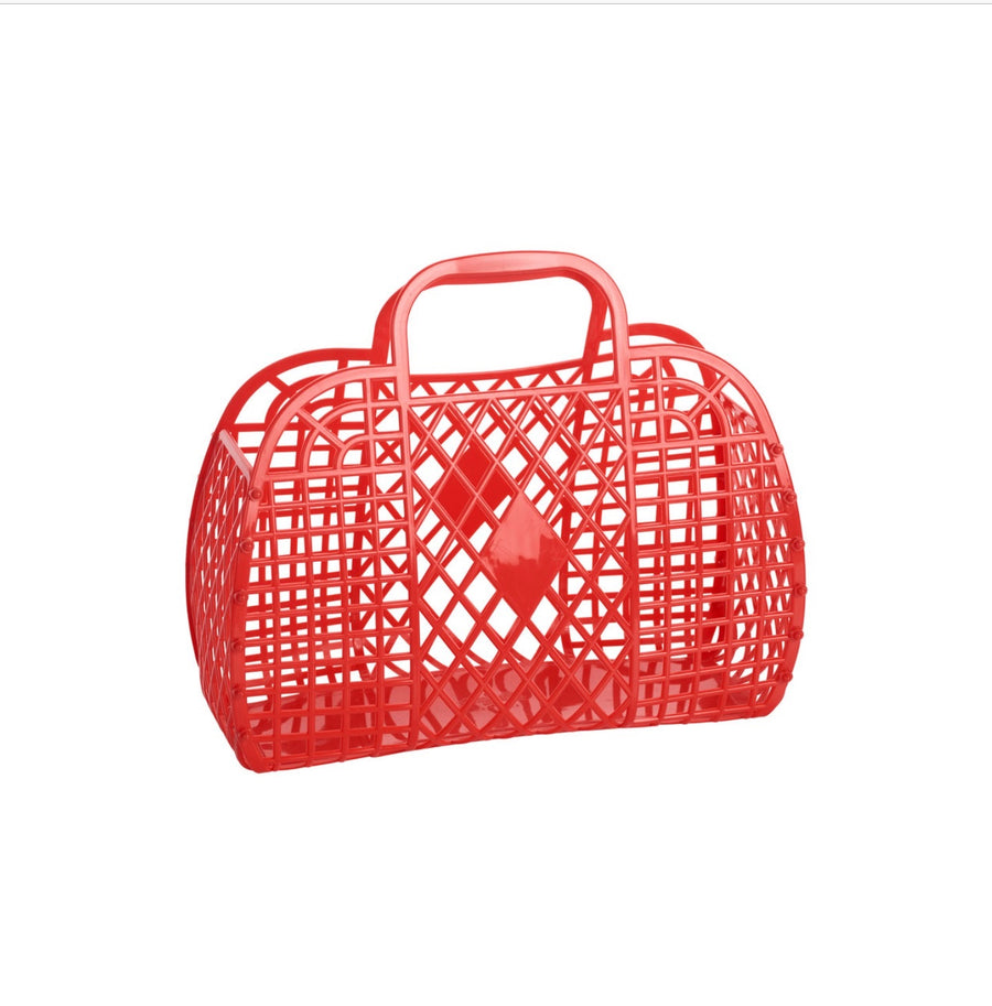 Retro Basket | Small Red