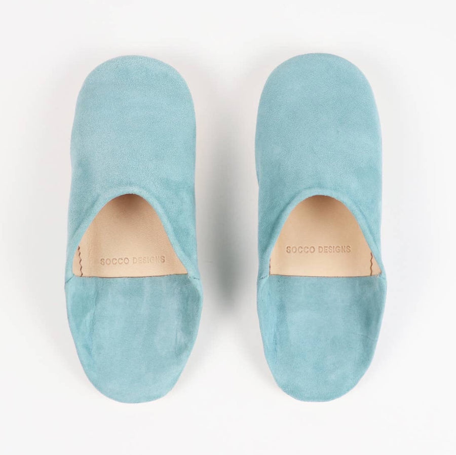 Women Moroccan Babouche Slippers | Turquoise