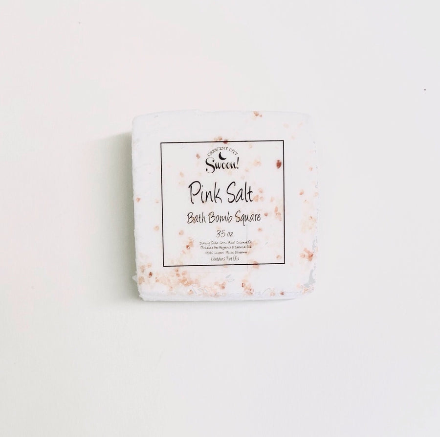 Square Bath Bomb | Pink Salt