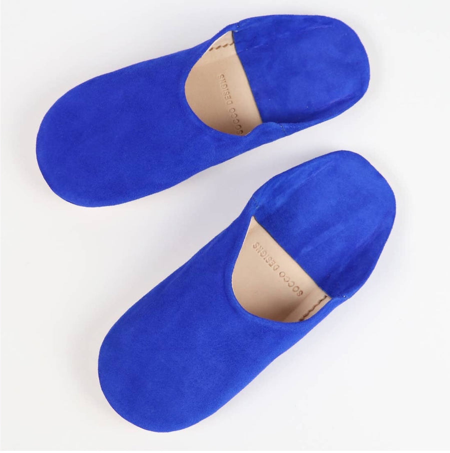 Women Moroccan Babouche Slippers | Royal Blue