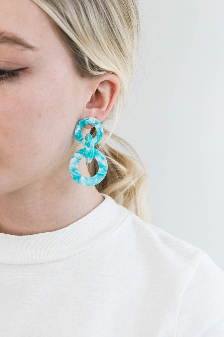 Triple Loop Earrings | Ocean
