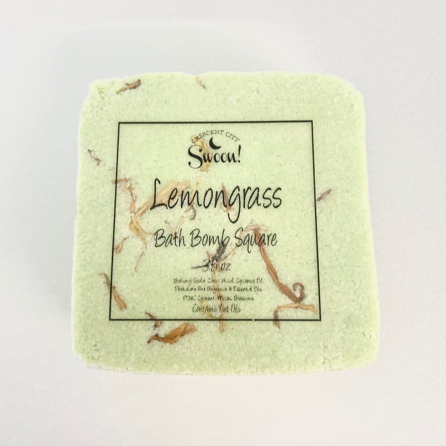 Square Bath Bomb | Lemongrass