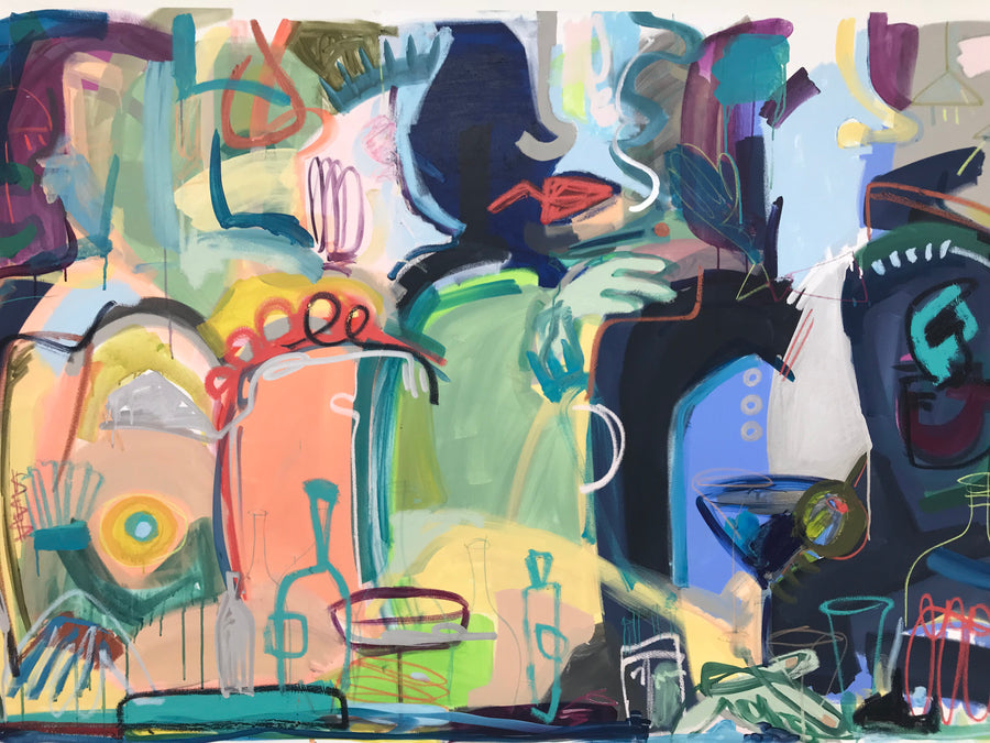 "Gin Extra Dirty | 48"" x 72"""