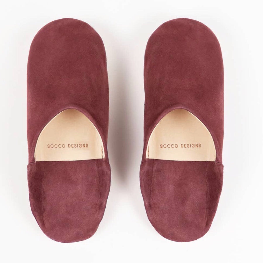 Women Moroccan Babouche Slippers | Burgundy