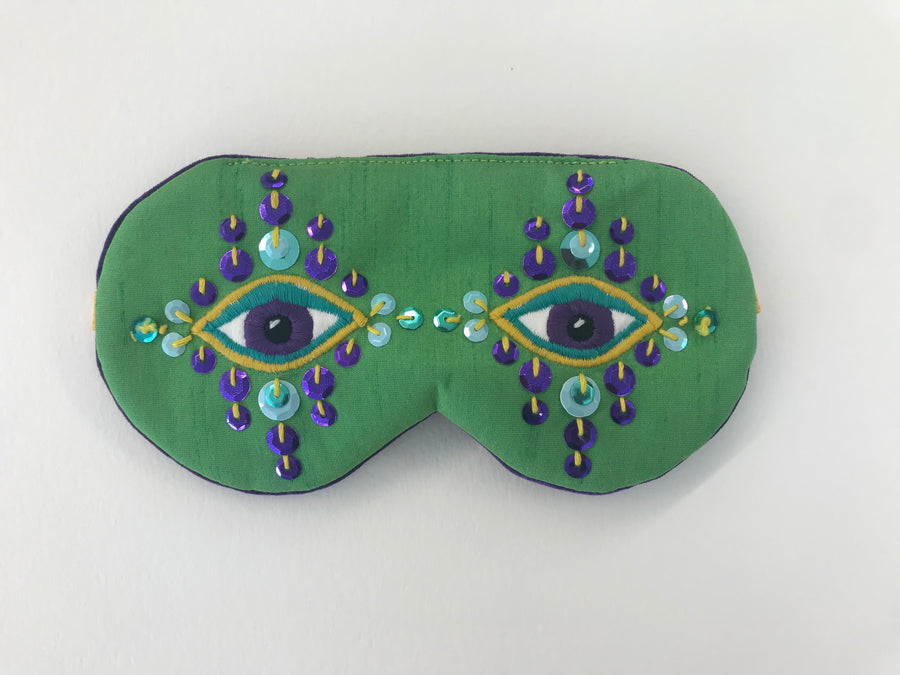 Evil Eye Sleep Mask | Green