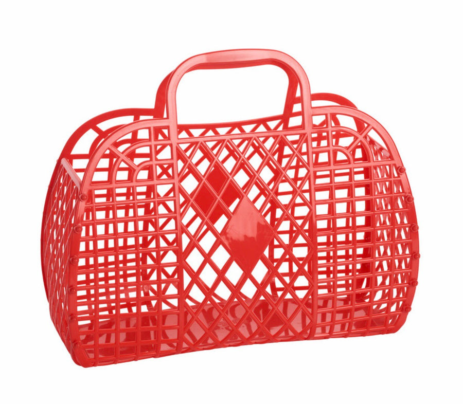 Retro Basket | Large Red