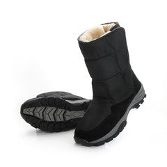 Men Boots black winter shoes male snowboots