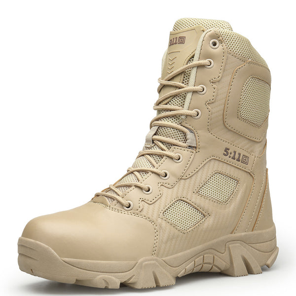 Military PU Leather Tactical Desert Combat Boats - ShoePacker