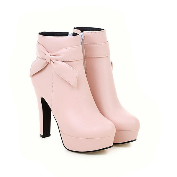 Womens Boots in spring autumn wedding shoes - ShoePacker