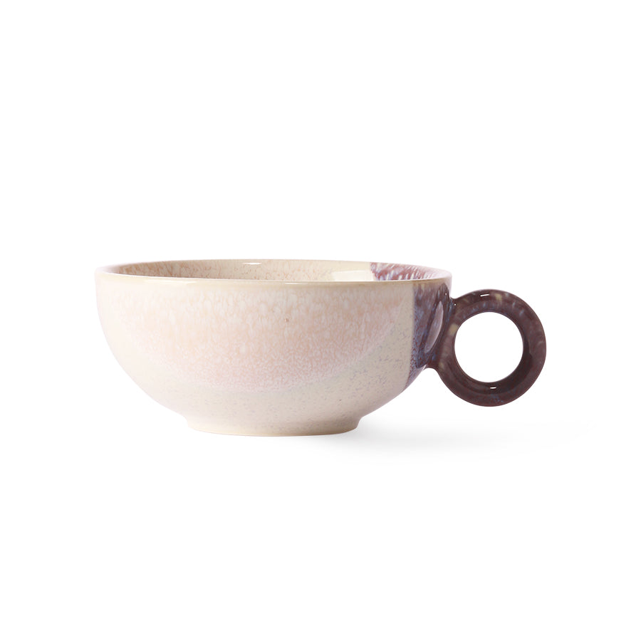 Nude + Lilac Ceramic Teacup