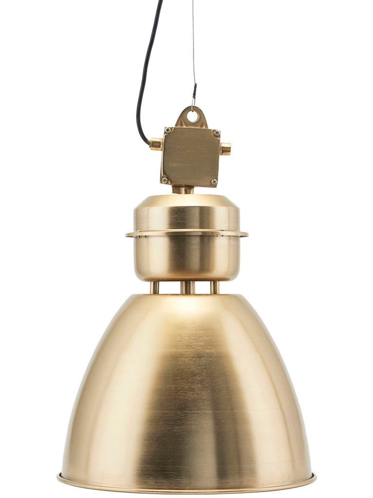 Volumen Brass Industrial Pendant Light