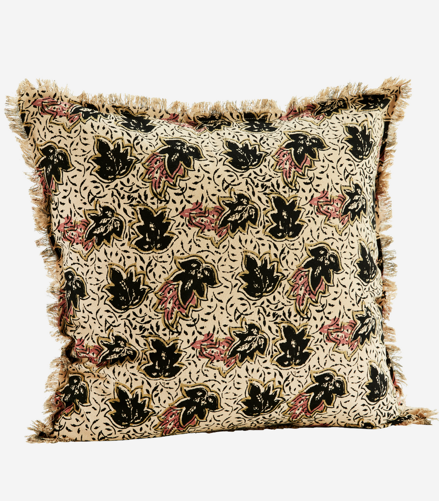 Printed Leaves Cushion Cover
