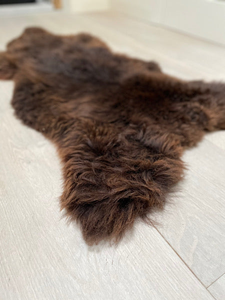 Brown Irish Sheepskin Throw