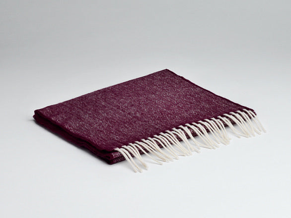 McNutt Irish Lambswool Scarf Mulberry
