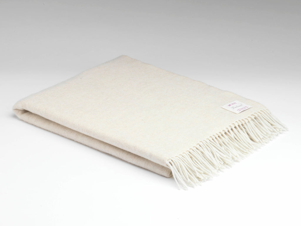 McNutt Irish Lambswool Blanket Linen