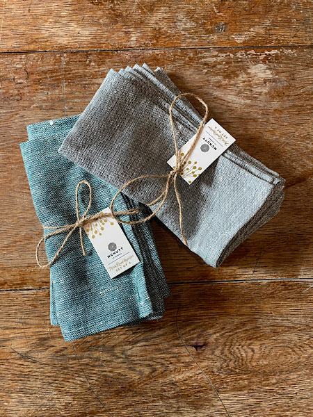 Set of 4 Irish Linen Napkins