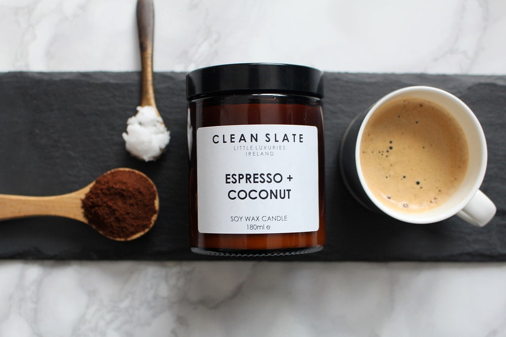 Clean Slate Scented Candle Espresso & Coconut