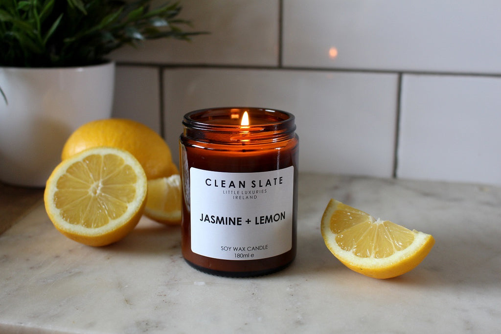Clean Slate Scented Candle Jasmine & Lemon