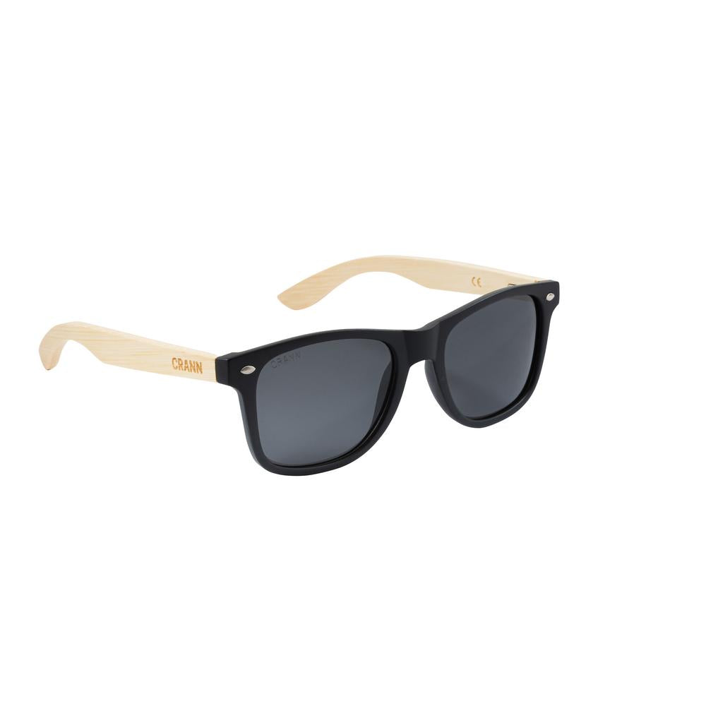 Crann Recycled Sunglasses Trad - Black