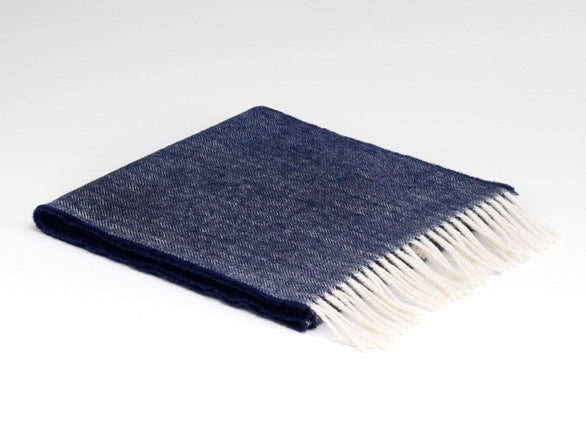 McNutt Irish Lambswool Scarf Navy
