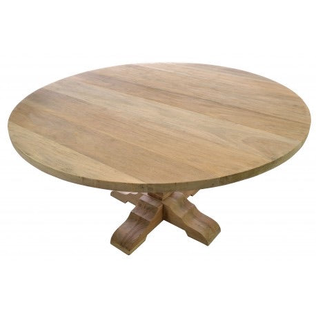Pale Mahogany Round Dining Table Large