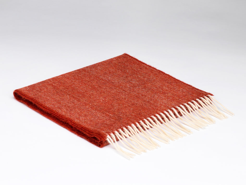 McNutt Irish Lambswool Scarf Tabasco