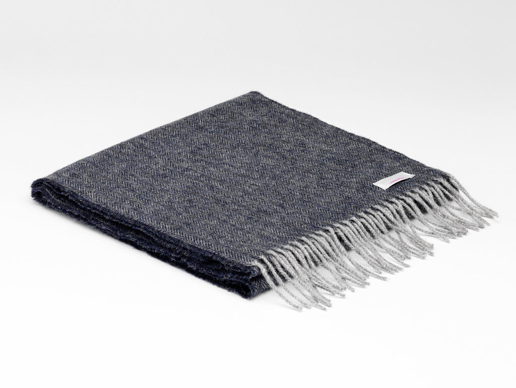 McNutt Irish Lambswool Scarf Charcoal
