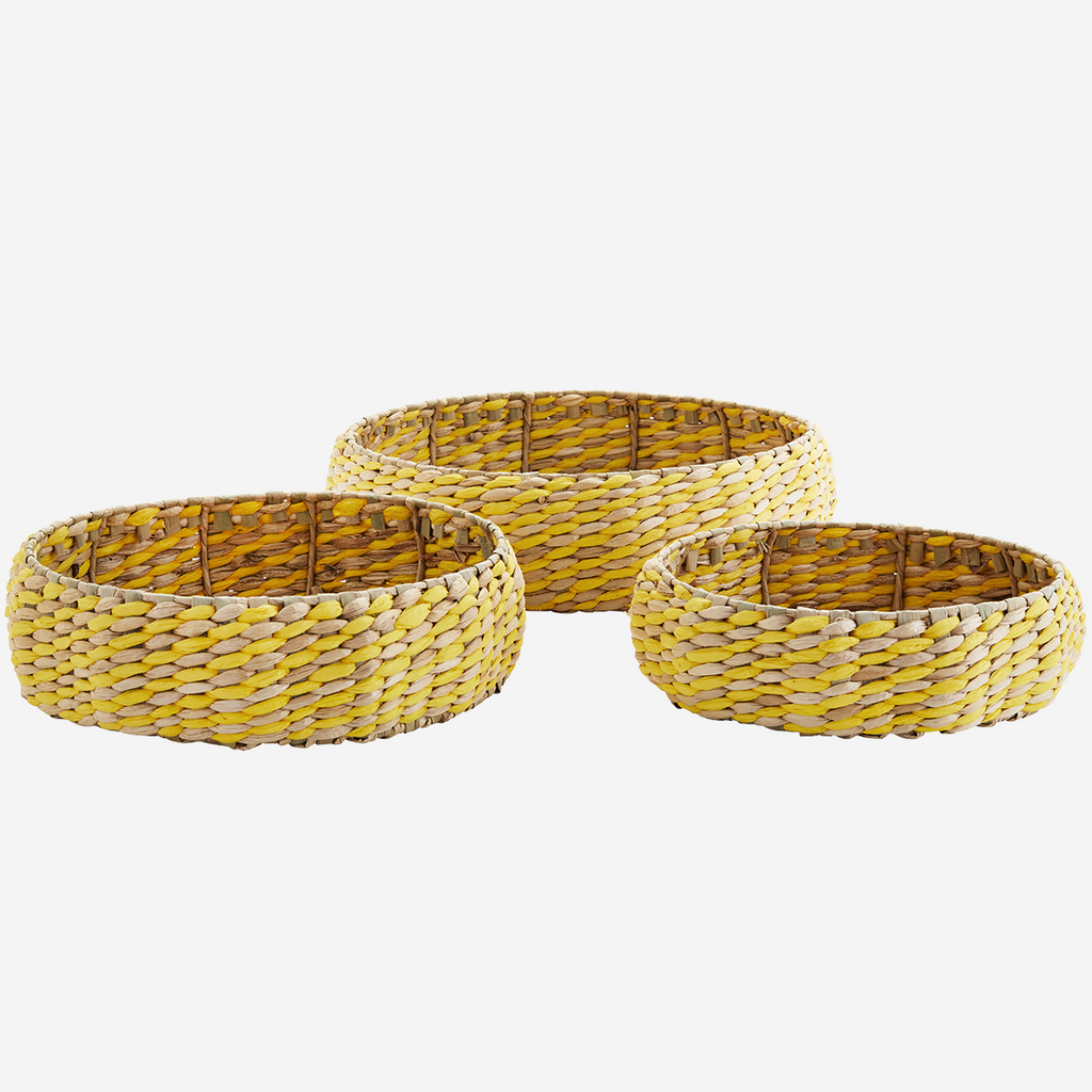 Round Wicker Trays Set of 3