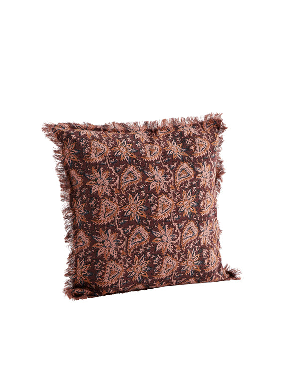 Ruby Printed Cushion with Fringes