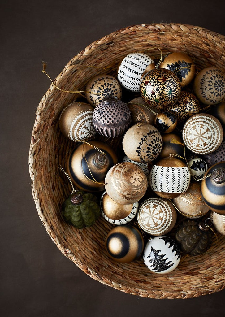 Handpainted Papier Mache Bauble Decorations