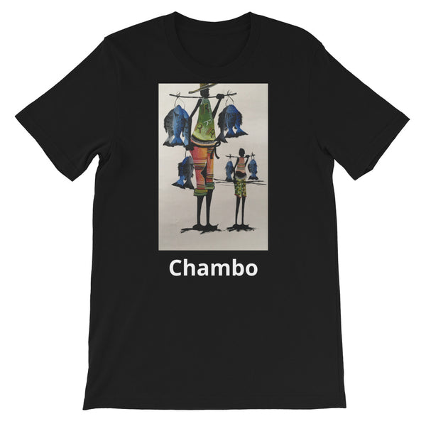 Chambo Black Short-Sleeve Unisex T-Shirt