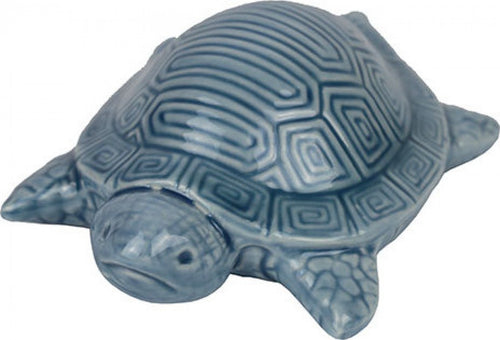 Ceramic Blue Turtle - Small