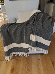 Herringbone Blanket XL Black
