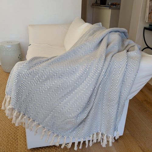 Manolia Light Grey Blanket XL