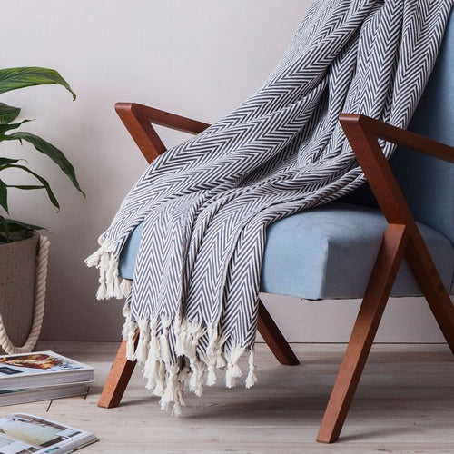 Manolia Grey Blanket XL