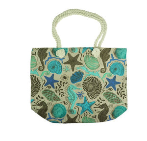 Shell patterned beach bag