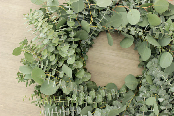 Fresh Handmade Farmhouse Eucalyptus Wreath