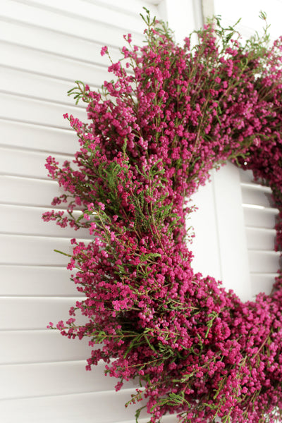 Fresh Handmade Heather Wreath