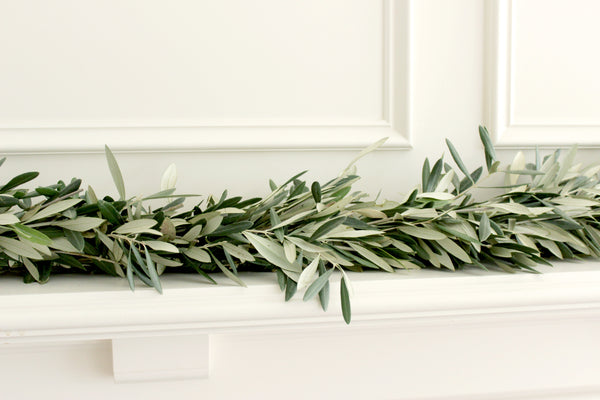 Handmade Fresh Olive Branch Garland