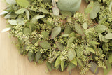 Fresh Handmade Seeded Eucalyptus Wreath