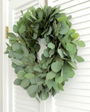 Fresh Handmade Silver Dollar Eucalyptus Wreath