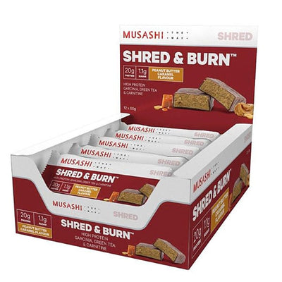 Musashi Shred and Burn Bar 60g Box of 12