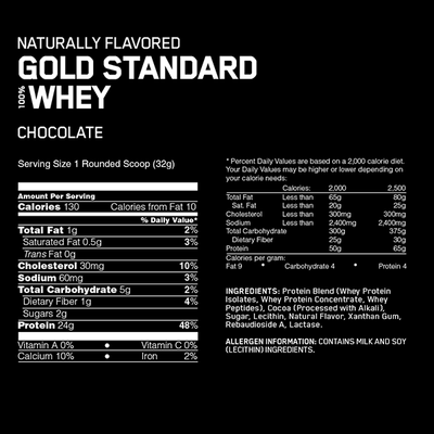 Optimum Nutrition Natural 100% Whey Gold Standard 5lb - Supplements.co.nz