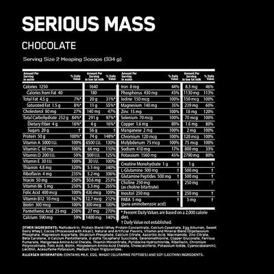 Optimum Nutrition Serious Mass 12lb - Supplements.co.nz