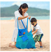 Top quality Thickness plus 45cm/25cm Green Sand Away Beach Bag/Kids Grid Beach Mesh Bag tote bag/Reseau Chidlren's storage bag