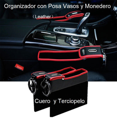 CONSOLA LATERAL DE AUTO Gap Catcher MONEDERO y PORTAVASOS